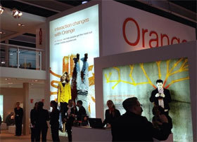 Stand d'Orange au Mobile World Congress 2014