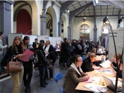 Le Forum de l'emploi et du stage textile à l'Ensait de Roubaix.