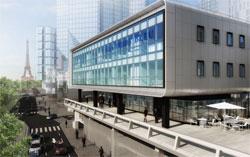 Les nouveaux locaux parisiens du Cordon Bleu, le long des quais (15è).