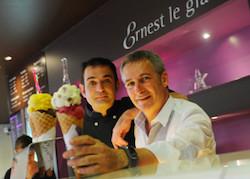 """Nicolas et Freddy Babin, fondateurs de """"Ernest le glacier""""."""