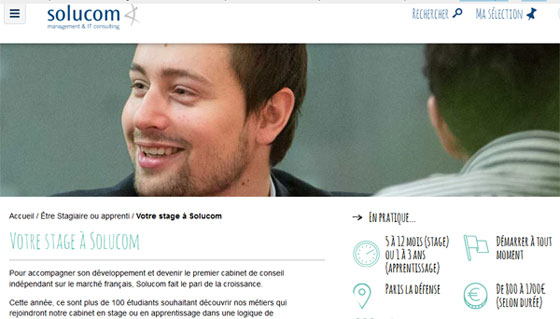 Solucom : une centaine de stages dans le conseil en management et IT
