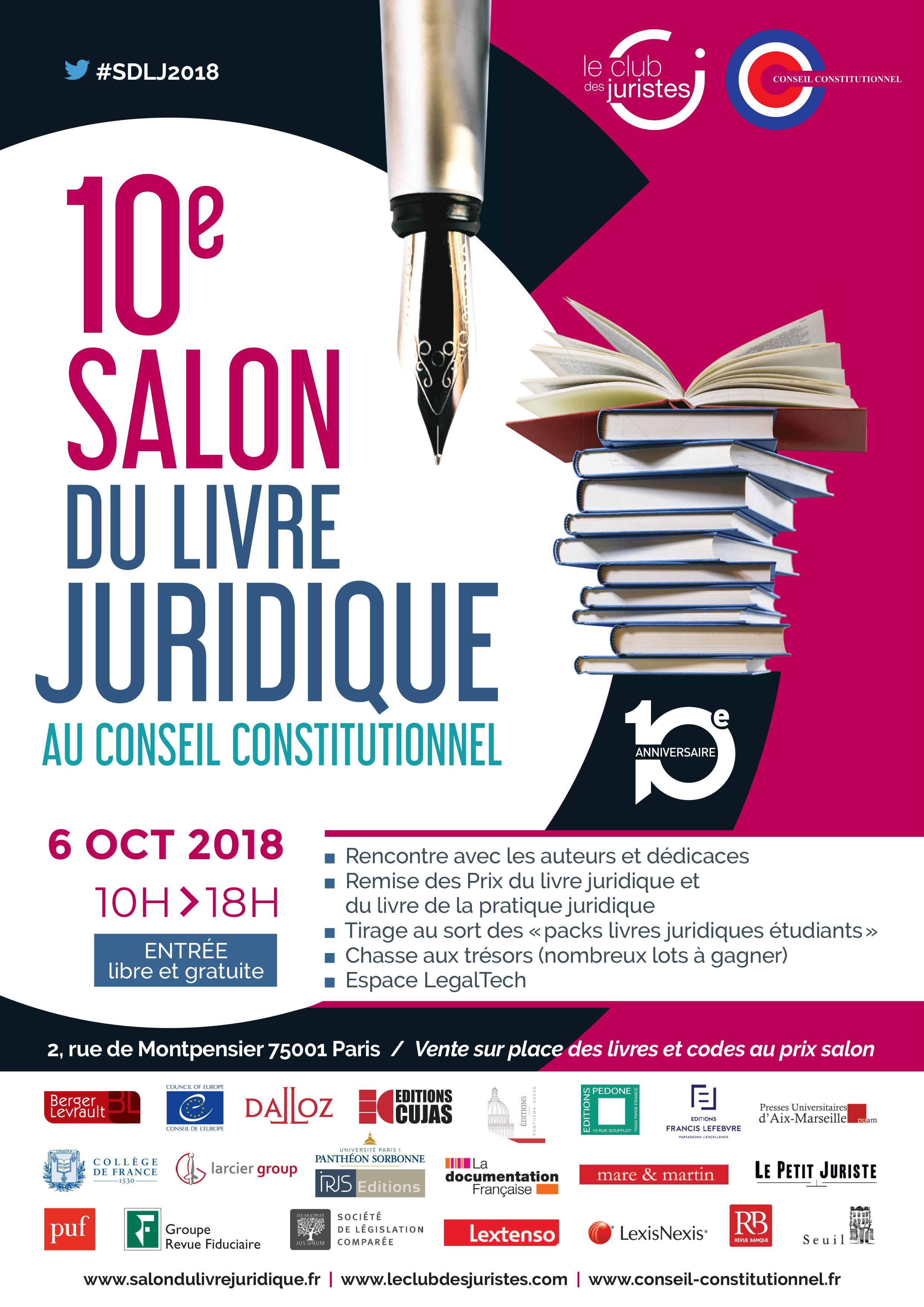 10e salon du livre juridique  u00e0 paris