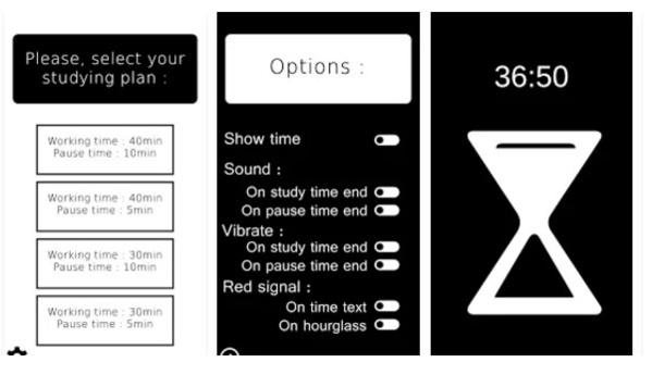Le visuel de l'application Studying Hourglass sur Google Play.