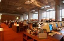 Salle de lecture de la bibliothèque François Mitterand à Paris
