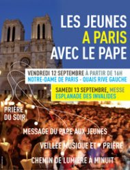Le pape s'adresse aux jeunes à Paris