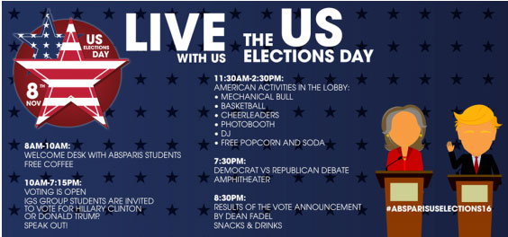 L'American Business School of Paris invite à vivre l'US Elections Day sur son campus