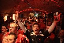 ambiance dans un pub des Pays-de-Galles