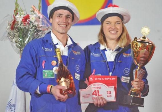 Jean Galpin et Sabine Ossonce, vainqueurs du 20ème 4L Trophy.