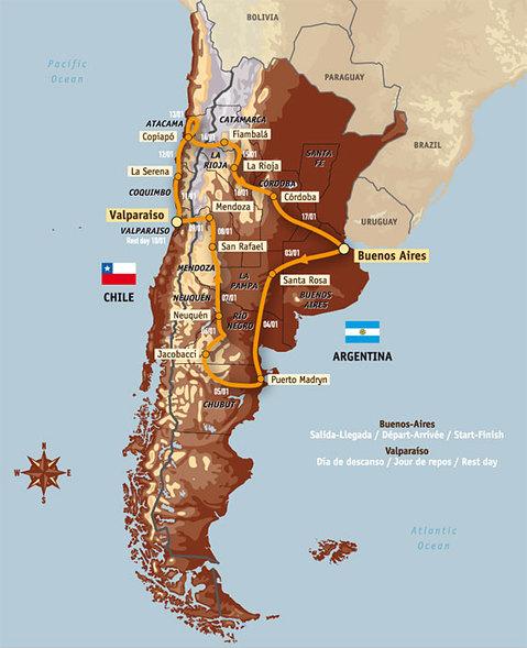 """Le 30è ''Dakar"""" en  Amérique du Sud"""