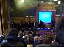L'amphithéâtre Lefèvre à la Sorbonne, cours de Science  Politique, Paris 1