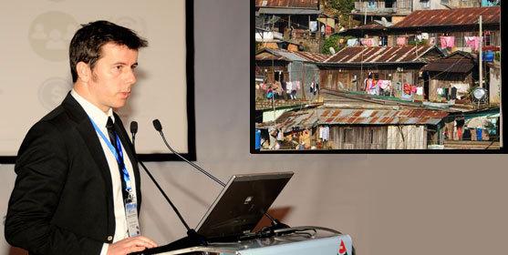 Antoine Horellou présente un projet d'habitat social au profit de populations n'ayant pas accès aux services vitaux de base.