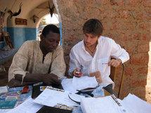 Antoine Horellou à Ouagadougou pour La Voûte Nubienne.