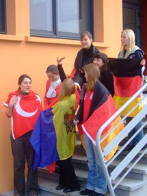 De jeunes volontaires, lors d'une rencontre sur le SVE