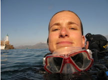 Plongée depuis le bord à STARESO