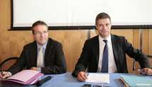 Martin Hirsch et Laurent Wauquiez le 24 septembre (photos : H. Hamon)