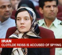 Clotilde Reiss, 24 ans, a comparu devant le tribunal iranien