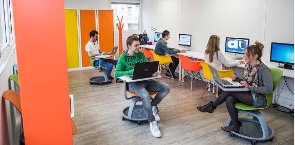 Dans les locaux de la Web School Factory qui accueilleront la 1ère promotion du CFEE. © Web School Factory