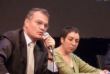 Bernard Ramanantsoa, directeur du groupe HEC, et Nadia Bellaoui, de la Ligue de l'Enseignement.