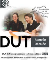 Affiche de l'IUT de Troyes.