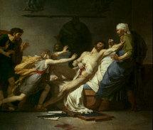 La mort de Caton d'Utique, huile sur toile de P-N Guérin (1797)