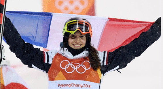 Perrine Laffont, championne olympique. © CNOSF/KMSP