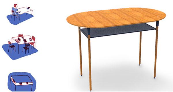 dix jeunes designers inventent les meubles de demain via un concours d 39 innovation. Black Bedroom Furniture Sets. Home Design Ideas