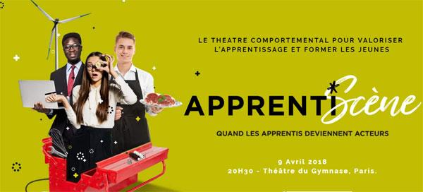 Apprentiscène : des apprentis sur la scène d'un théâtre parisien