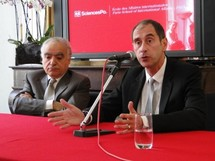 Ghassam Salamé, directeur de la nouvelle PSIA, et Richard Descoings, directeur de Science po Paris.