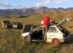 Recherche d'itinéraire lors des précédents Mongol Rally...
