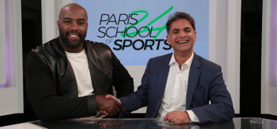 Teddy Riner et Franck Papazian, le président de MediaSchool, co-fondateurs de Paris School of Sports.