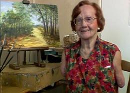 Denise Legrix : elle peignait et écrivait avec sa bouche