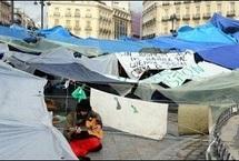 Le campement de la Puerta del Sol à Madrid