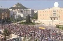 La place Syntagma à Athènes.