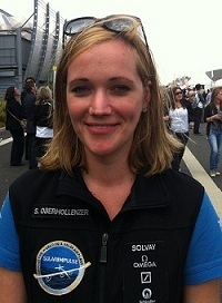 Ingénieure, elle travaille sur le Solar Impulse