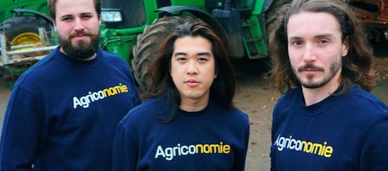 Les trois fondateurs d'Agronomie, dont Clément le Founis (à g.)