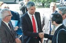 Laurent Wauquiez annonce à Bordeaux  le choix des 3 premières Idex.