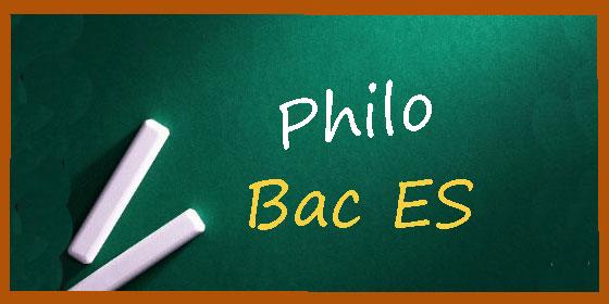 Les sujets et les corrigés de philo du bac ES