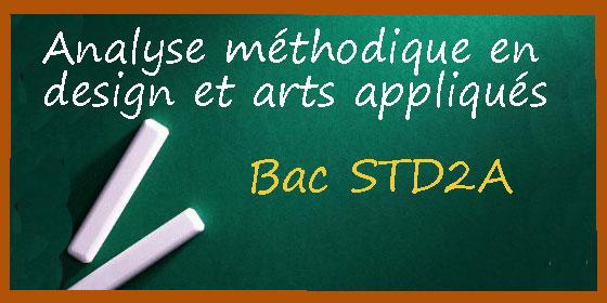 Le corrigé d'analyse méthodique en design et arts appliqués au bac STD2A