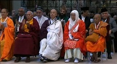 Délégués religieux de divers pays lors de la rencontre d'Assise.