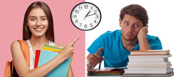 Test : Etudiants, testez votre organisation pour travailler plus efficace