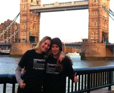 Pauline et son amie Véronica, étudiante avec elle à University of Westminster