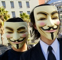 Manifestion des Anonymous / Wikipedia, Vincent Diamante