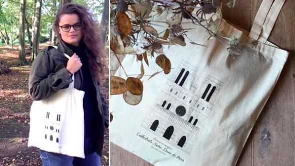 Une jeune illustratrice en patrimoine lance un tote bag à l'effigie de Notre-Dame