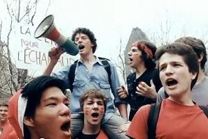 Manifestation d'étudiants québecquois contre la hausse des droits universitaires