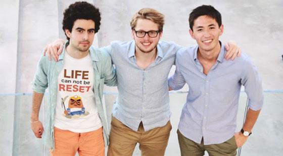 Les trois fondateurs des Sherpas.