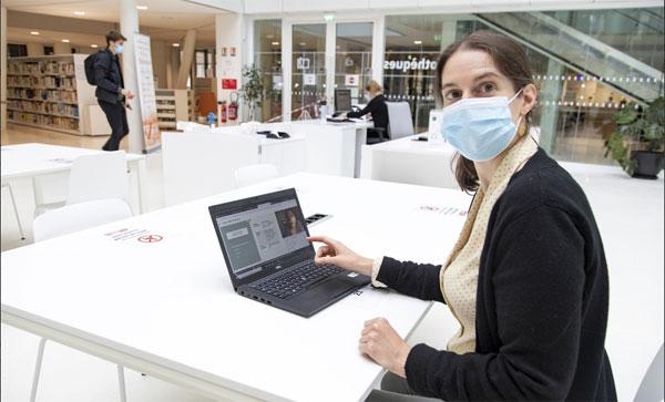 Le campus virtuel de l'IEP de Strasbourg. © Unistra