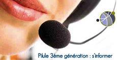 Pilule de 3ème génération : ouverture d'un numéro Azur de réponse aux questions