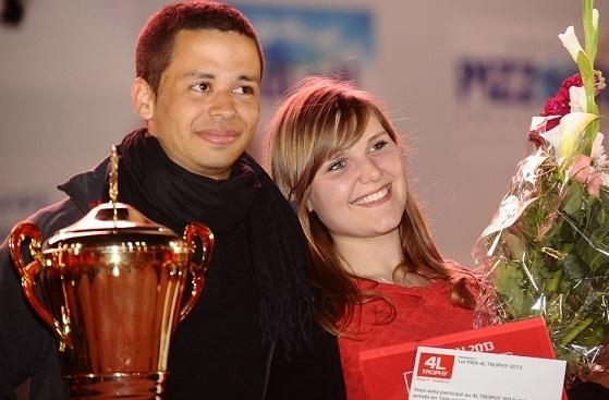 Les gagnants, Medhi et Jennifer, de l'Esta Belfort