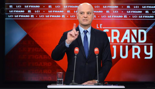 Jean-Michel Blanquer avait d'abord annoncé le maintien des épreuves de spécialité, au Grand Jury RTL/ LCI/ Le Figaro du 10 janvier © capture écran RTL