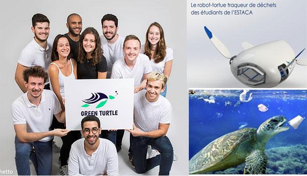 Les lauréats du Prix Talents : leur projet Green Turtle s'attaque à la pollution des océans par le plastique.